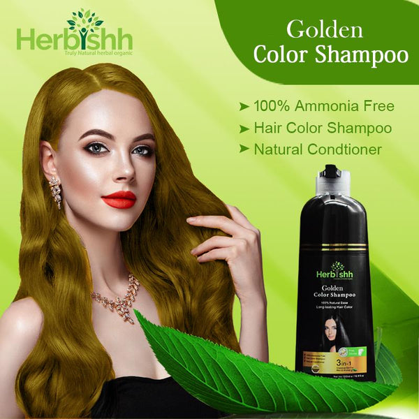 (Choose Gold or Blonde Shades) 3 pcs Color Shampoo + Free 1 pc Hair Mask