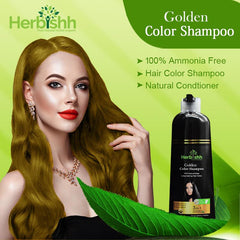 (Gold and Linen Shades) 2pcs Color Shampoo + Free 1pc Argan Oil
