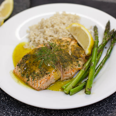 Glazed Salmon With Sweet & Spicy Lemon Glaze