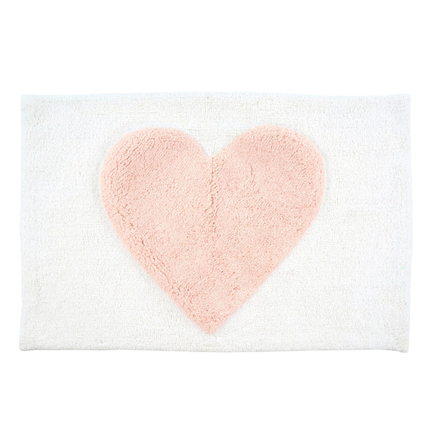 Pink Tufted Cotton Bathmat
