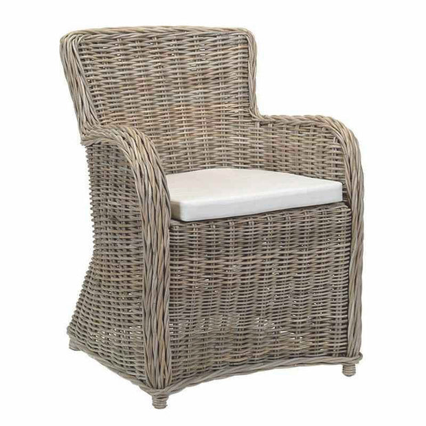 Rattan Armchair with Cushion