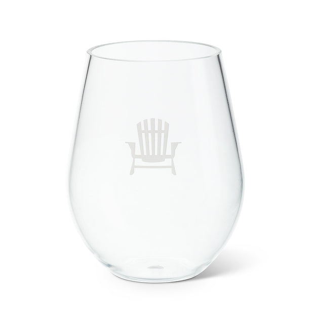 Stemless Goblet with Chair Icon