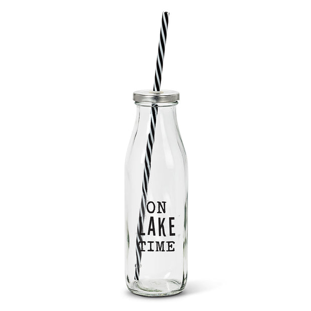 Lake Bottles with Straw
