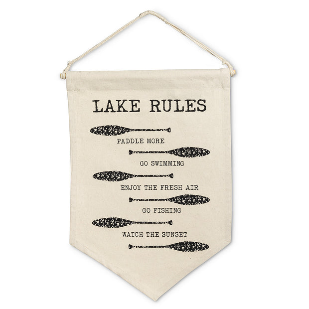Lake Rules Wall Tapestry