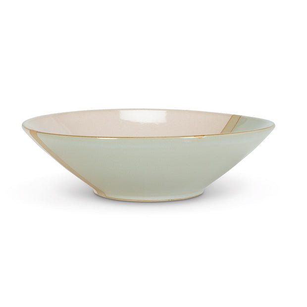 Rustic Style Large Shallow Bowl