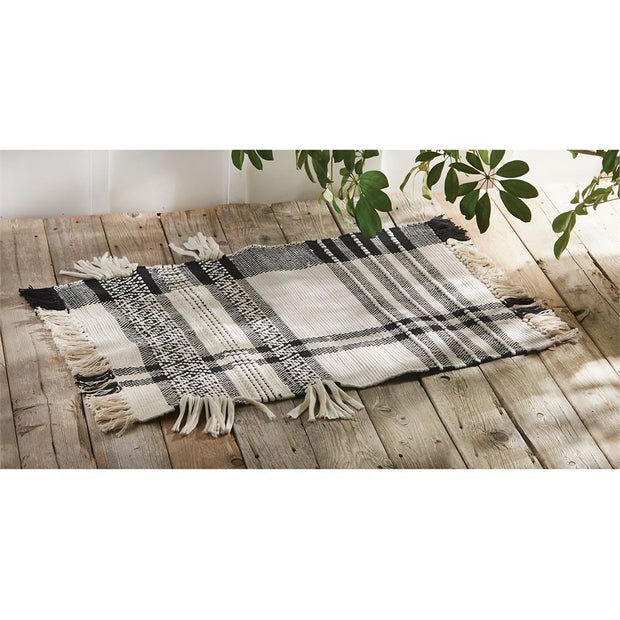 Black & White Checked Rug