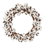 Artificial Cotton Wreath