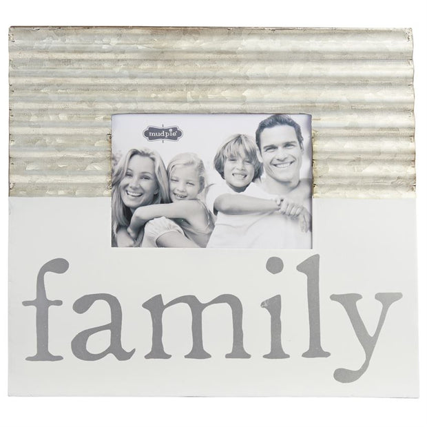 Family Tin & Enamel Frame