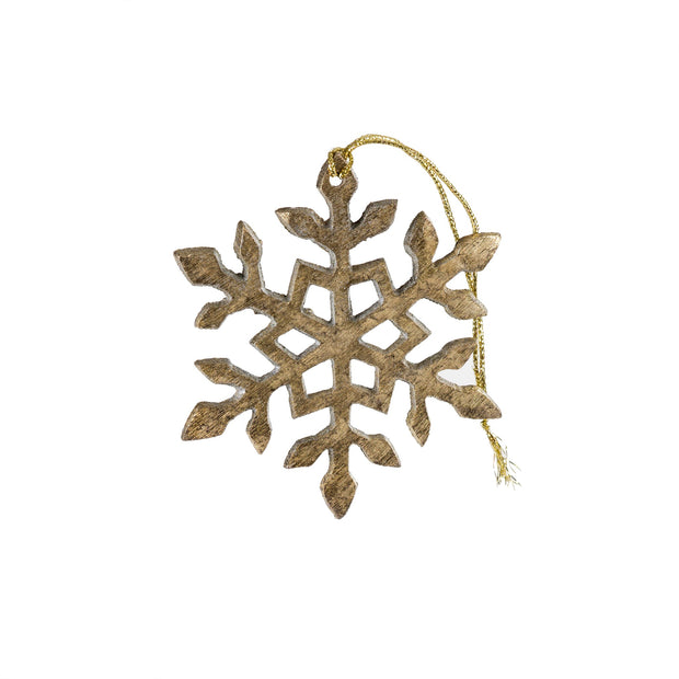 Metallic Snowflake Ornament