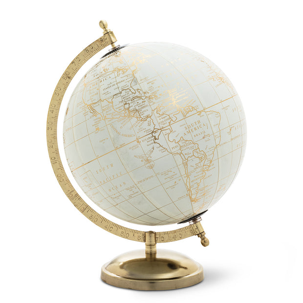 Ivory and Gold Globe