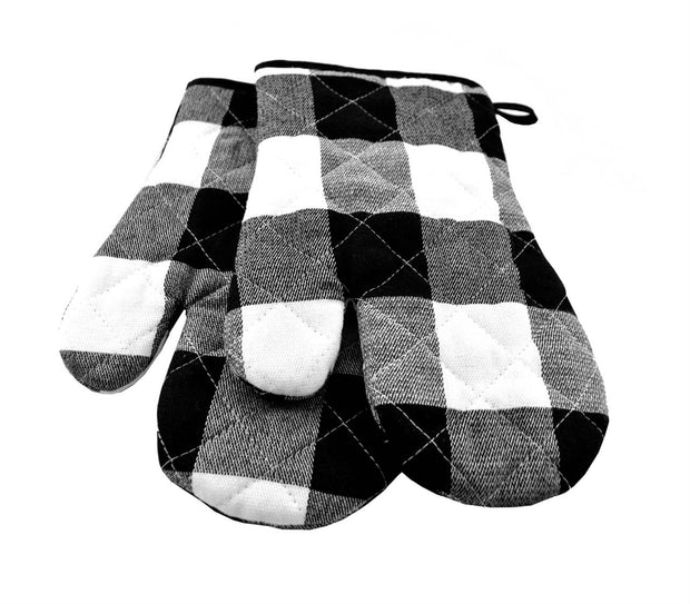 Buffalo Plaid Oven Mitts