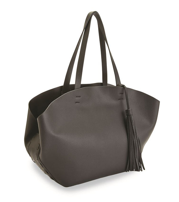 Olympia Faux Leather Tassel Tote