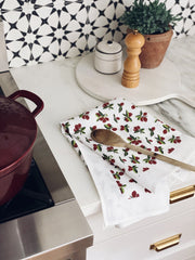 Wild Cranberry Tea Towel