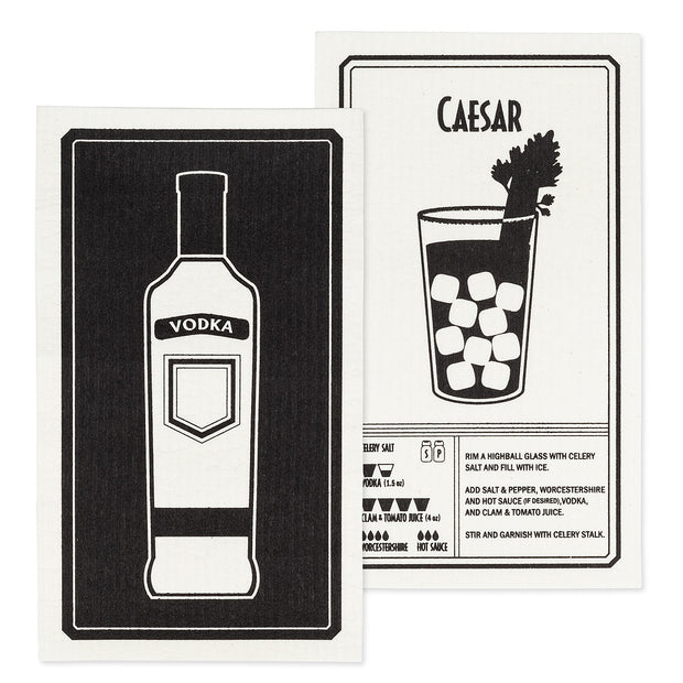 Vodka & Caesar Dishcloths