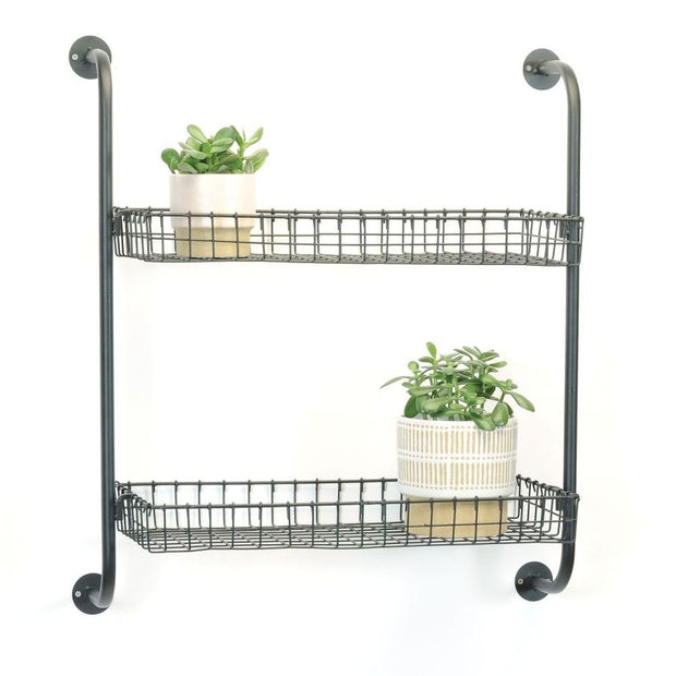 Wire Wall Shelf with Two Shelves