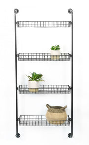 Wire Wall Shelf with Four Shelves