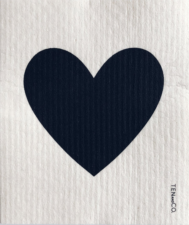 Big Love Black on White Sponge Cloth