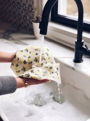 LARGE Citrus Lemon Sponge Cloth Mat