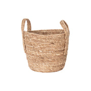 Boho Cornleaf Basket with Handles