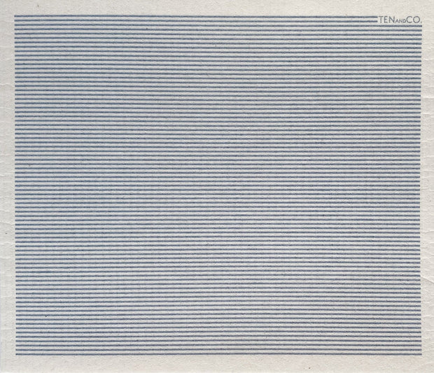 Stripe Denim Large Sponge Cloth Mat
