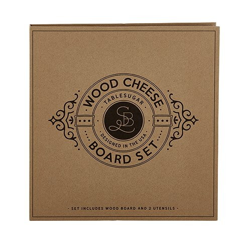 Wood Cheese Board Set