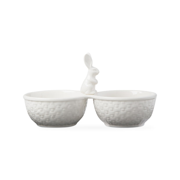 Bunny Weave Two Part Serving Dish