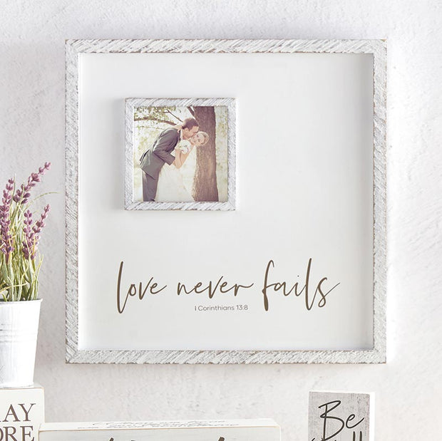 12x12 Photo Frame - Love Never Fails