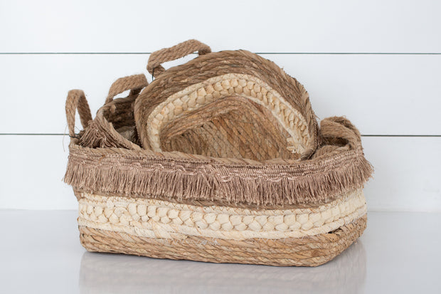 Corn Leaf Fringe Basket