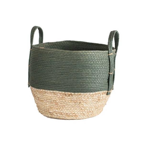 Sage Natural Straw Basket