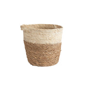 Natural Woven Handled Basket