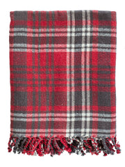 Cotton Woven Plaid Throw