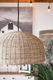 Boho Rattan Pendant Light