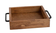 Square Stained Tray with Handles