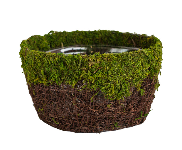 Moss Wicker Basket