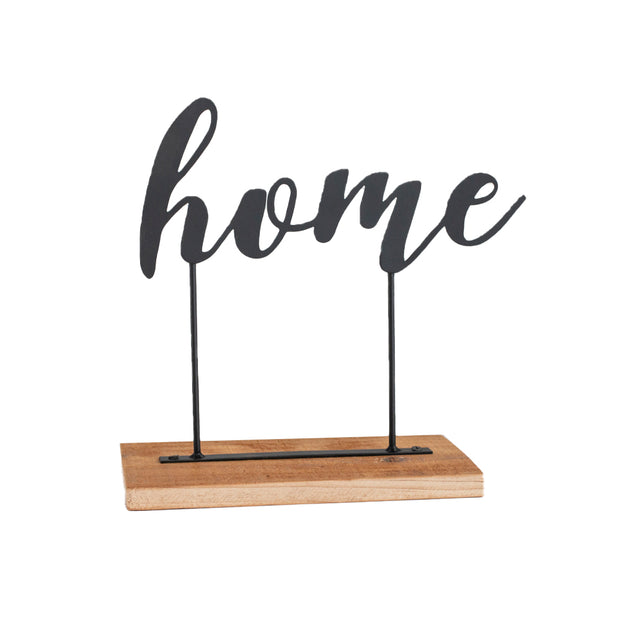 Home Metal + Wood Sign