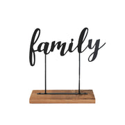 Family Metal + Wood Sign
