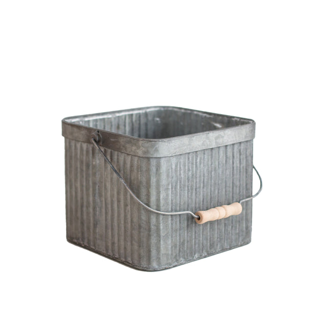 Square Galvanized Bucket