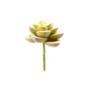 Yellow Green Flocked Succulent Pick