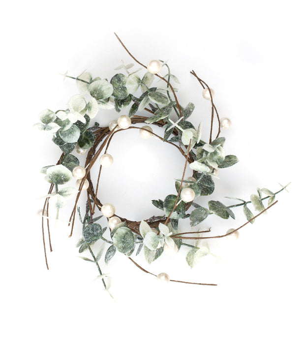 "3.5"" Eucalyptus Candle Ring Wreath"