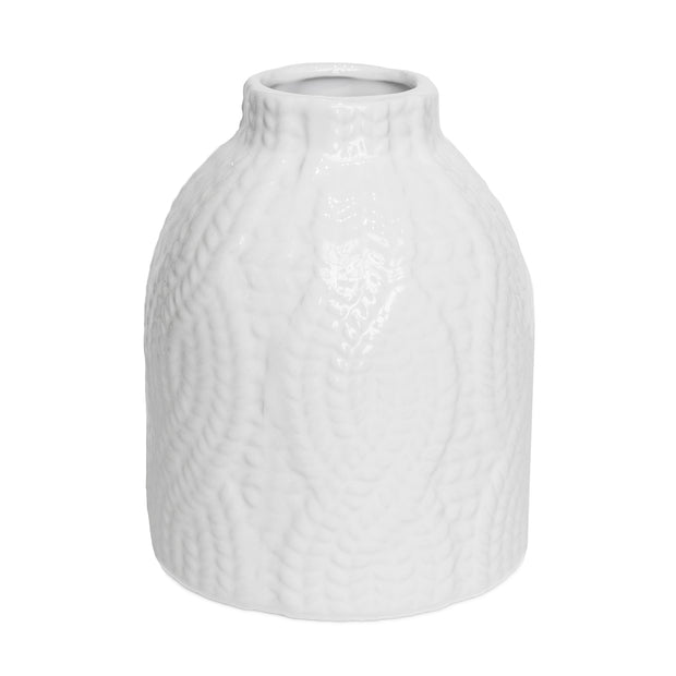 Cable Knit Ceramic Vase
