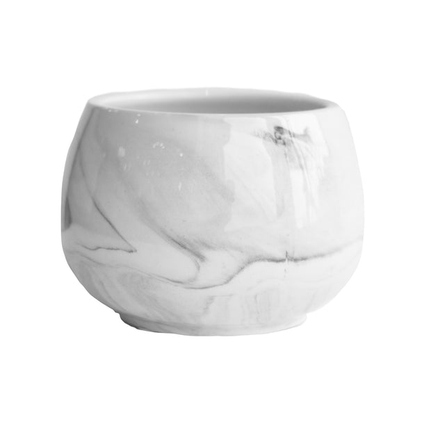 Grey Ceramic Marble Pot