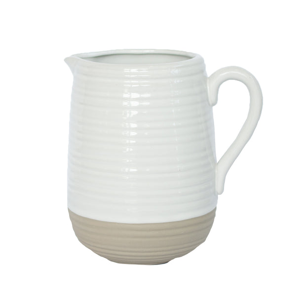 White Natural Pitcher