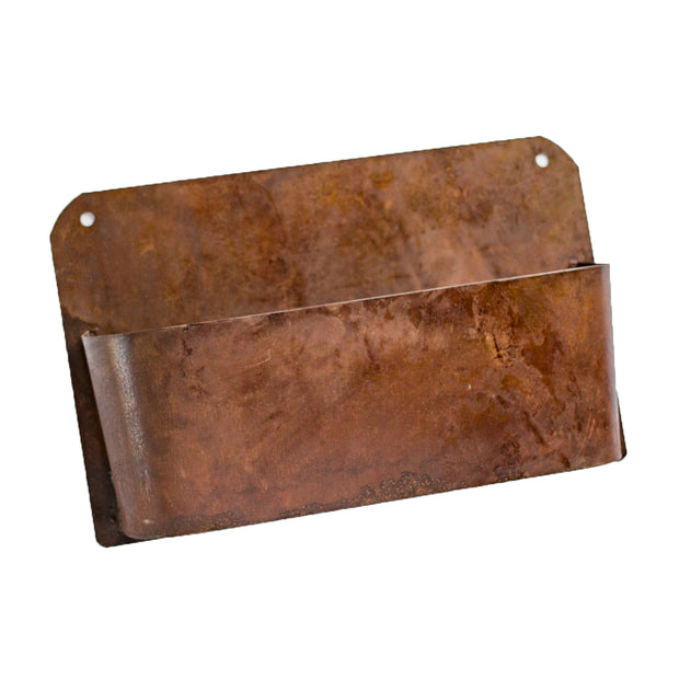 Rust Metal Wall Planter