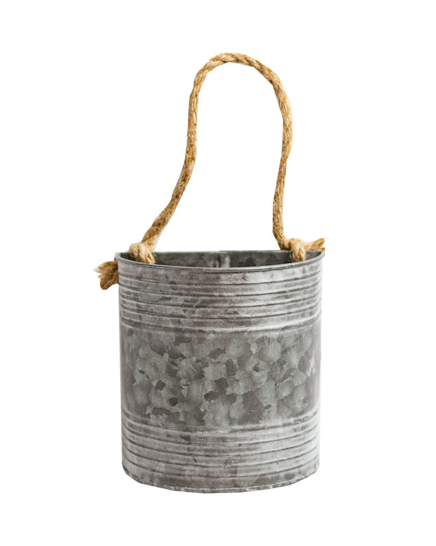 Half Moon Wall Planter with Rope