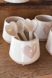 Ceramic Heart Spoon