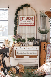 Tin Hot Cocoa Sign