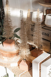 Champagne Wire Christmas Tree