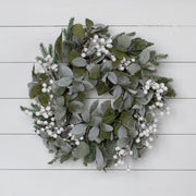 Flocked White Berry Wreath