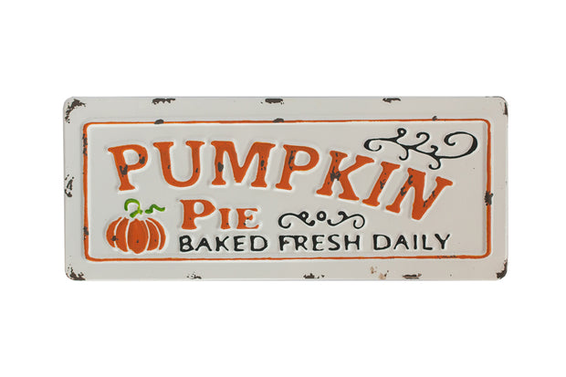 Pumpkin Pie Metal Sign