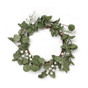 "12"" White Berry Wreath"
